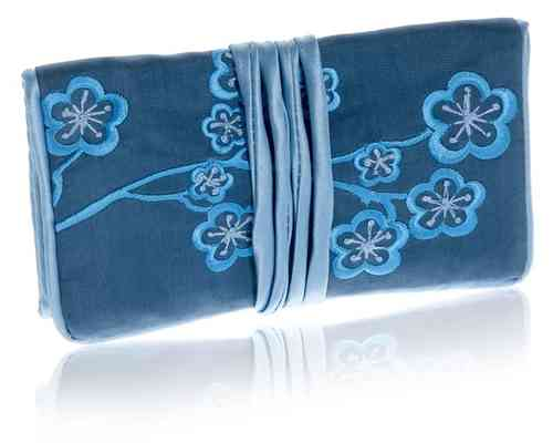Infinity Blue Jewellery Roll