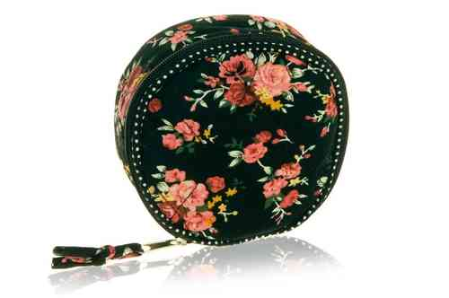 Black Flower Jewellery Case