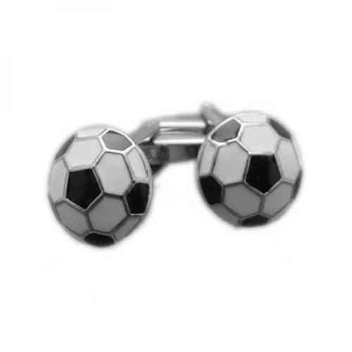 Black and White Football Cufflinks