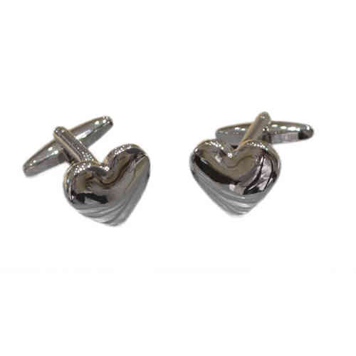 Domed Heart Cufflinks
