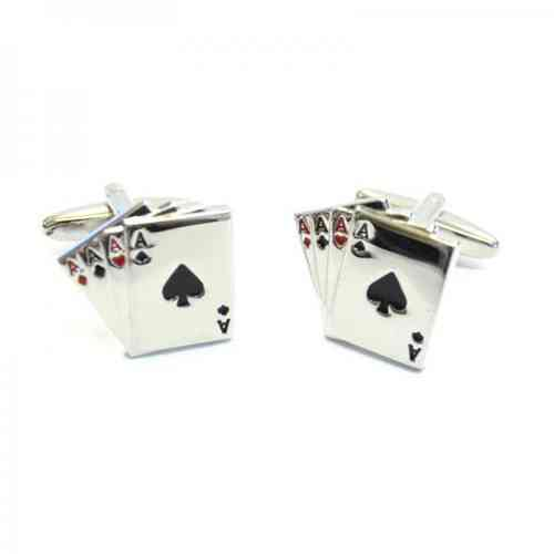 Aces Playing Card Cufflinks