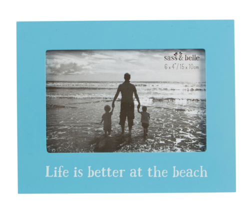 'Life is better at the beach' Frame
