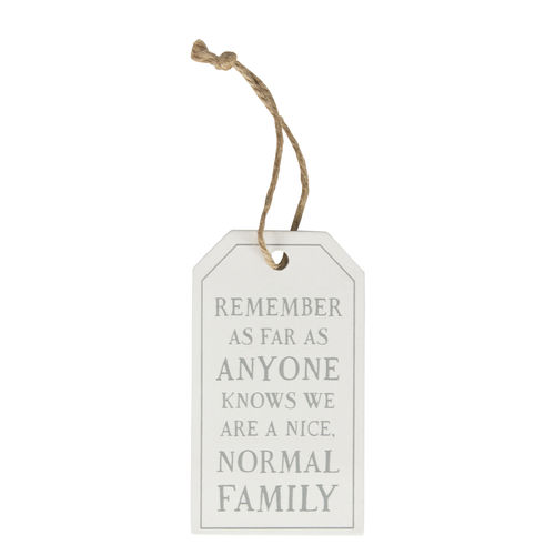 'Nice normal family' - Tag decoration