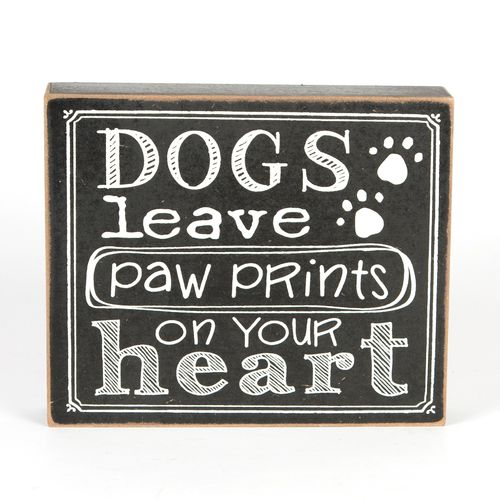 'Dogs leave paw prints' Plaque