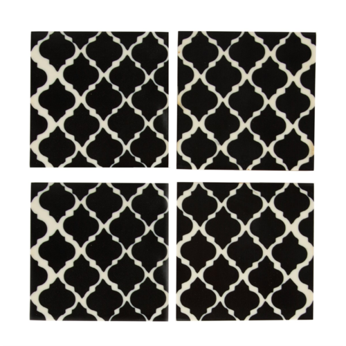 Black and White Coasters Set