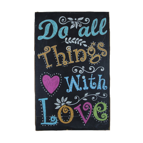 'Do all things with love' Box Frame