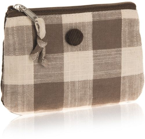 Taupe Natural Check Coin Purse