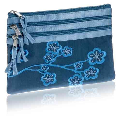Infinity Blue Cosmetic Purse