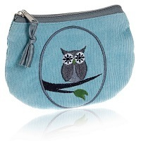 Aqua Cameo Owl Coin Purse