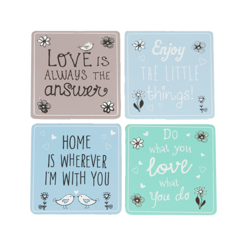 Pastel Sayings Coasters
