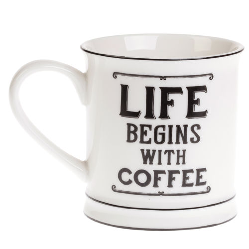 Life begins with Coffee - Mug