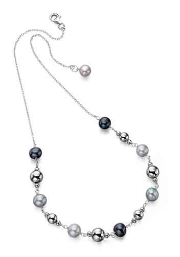 Pearl and Silver Bead Necklace