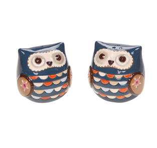 Blue Owl Salt and Pepper Shaker