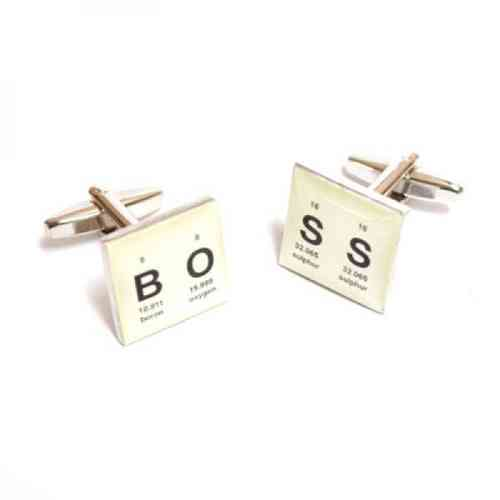Periodic Table BOSS Cufflinks