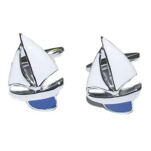 Blue Yacht Sailing Cufflinks