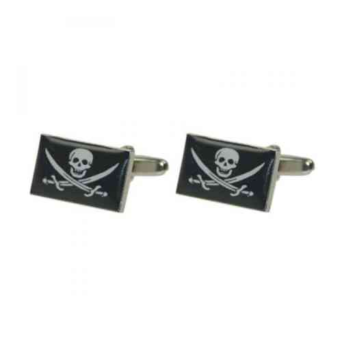 Skull and Cutlass Flag Cufflinks