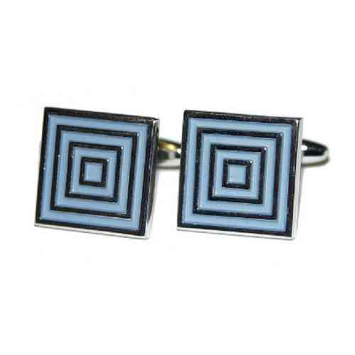 Classic Square Blue Design Cufflinks