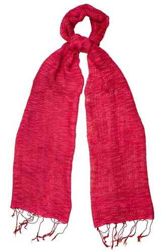 Poppy Red Chunky Weave Scarf