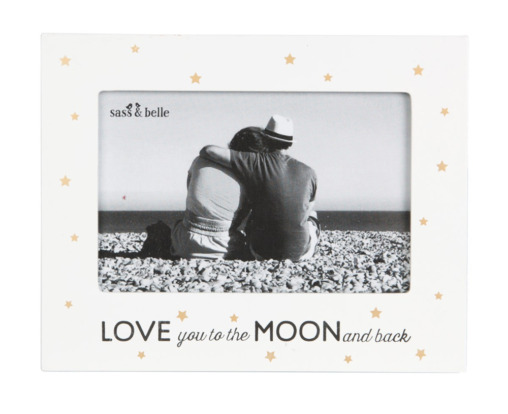 Love You To The Moon And Back Frame White