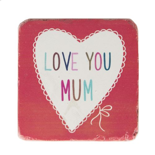 'I love you Mum' Coaster