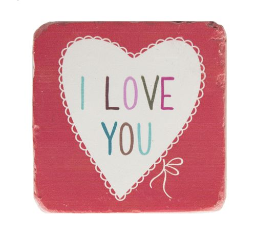 'I love you' Coaster