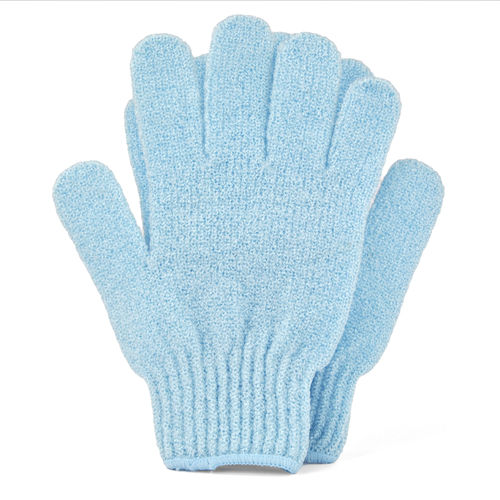 Blue Bath & Shower Exfoliating Gloves