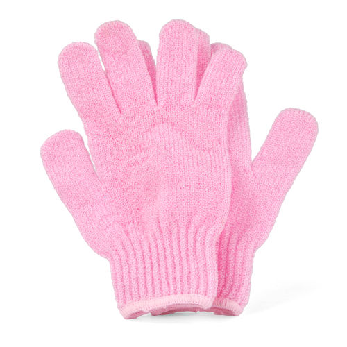 Pink Bath & Shower Exfoliating Gloves