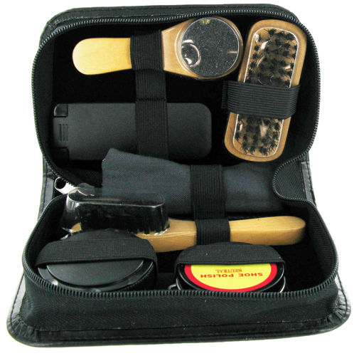 7 Piece Shoe Care Kit - Black