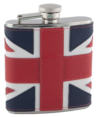 Union Flag Hip Flask