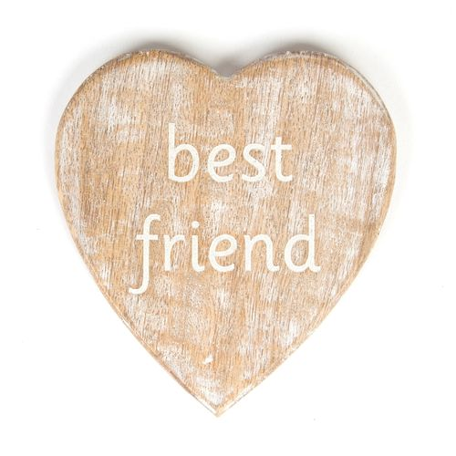 'Best Friend' carved Coaster