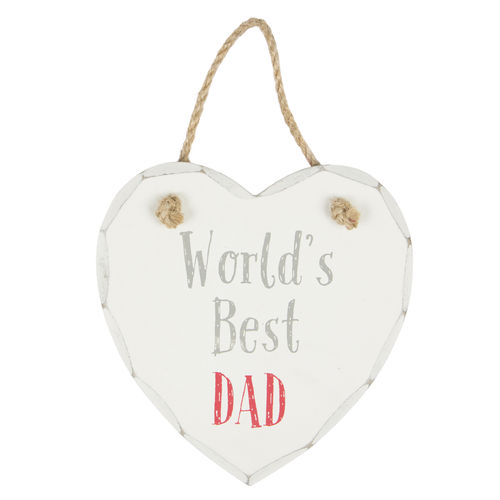 'Worlds Best Dad' hanging Plaque