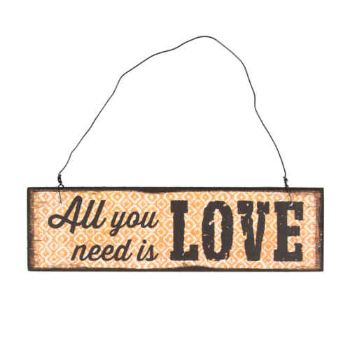 'All you need is love' Plaque