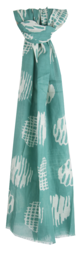 Green abstract print Scarf